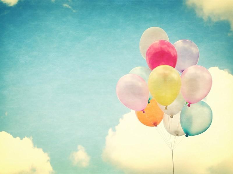 Die 10 Tugenden Luftballons